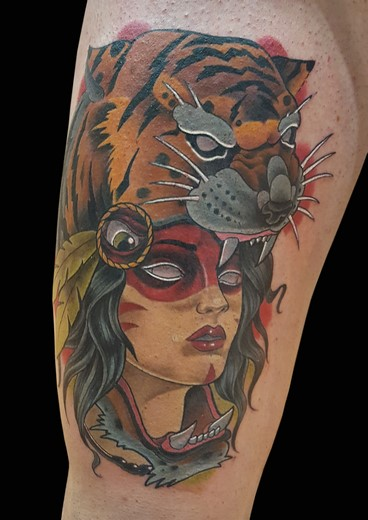 tattoo INDIA-TIGRE